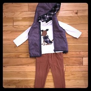 Other - 3-piece Outfit: Vest, Long Sleeve Shirt, Pants